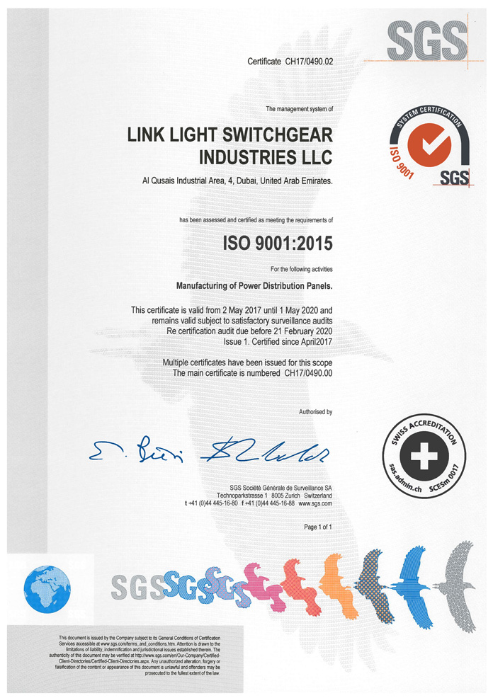 Linklight Switchgear Industries LLC